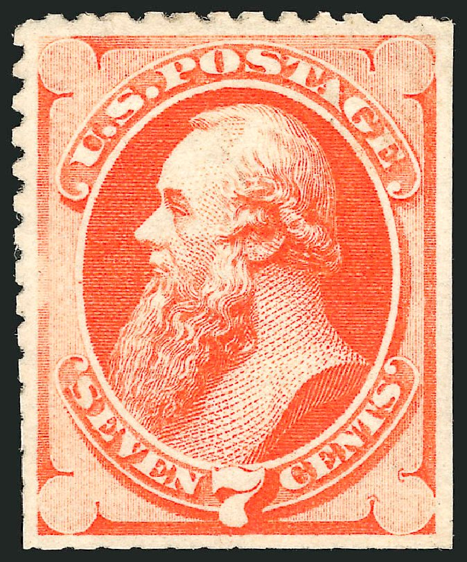 Values of US Stamp Scott Catalog 171: 7c 1875 Stanton Special Printing. Robert Siegel Auction Galleries, Jun 2015, Sale 1100, Lot 37