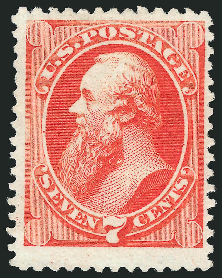 Costs of US Stamp Scott Catalog #171: 1875 7c Stanton Special Printing. Robert Siegel Auction Galleries, Jun 2015, Sale 1106, Lot 3127
