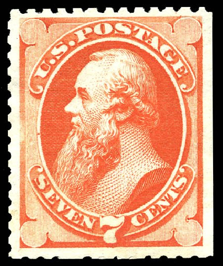 US Stamps Value Scott Cat. #171: 1875 7c Stanton Special Printing. Matthew Bennett International, May 2014, Sale 350, Lot 288