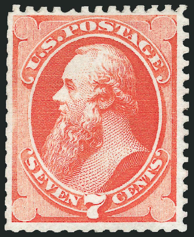 Price of US Stamp Scott Cat. 171 - 7c 1875 Stanton Special Printing. Robert Siegel Auction Galleries, Dec 2010, Sale 1000, Lot 1098