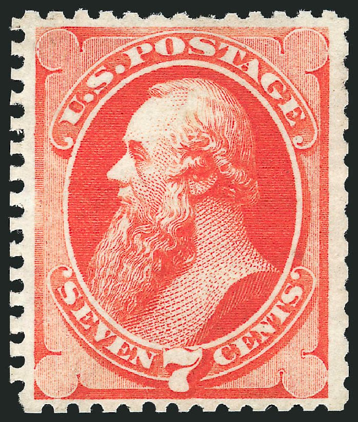 US Stamp Value Scott Cat. # 171: 7c 1875 Stanton Special Printing. Robert Siegel Auction Galleries, Dec 2012, Sale 1036, Lot 118