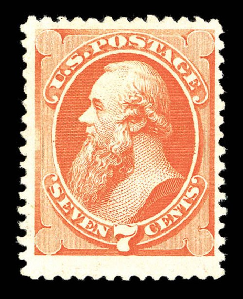Costs of US Stamps Scott Cat. 171: 1875 7c Stanton Special Printing. Matthew Bennett International, Sep 2012, Sale 345, Lot 209