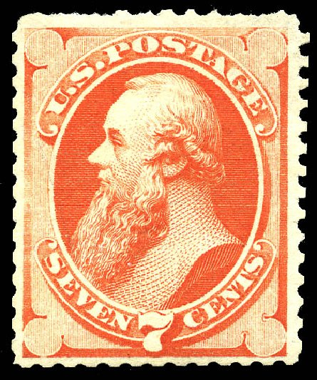 Prices of US Stamps Scott Cat. 171: 1875 7c Stanton Special Printing. Matthew Bennett International, May 2014, Sale 350, Lot 289