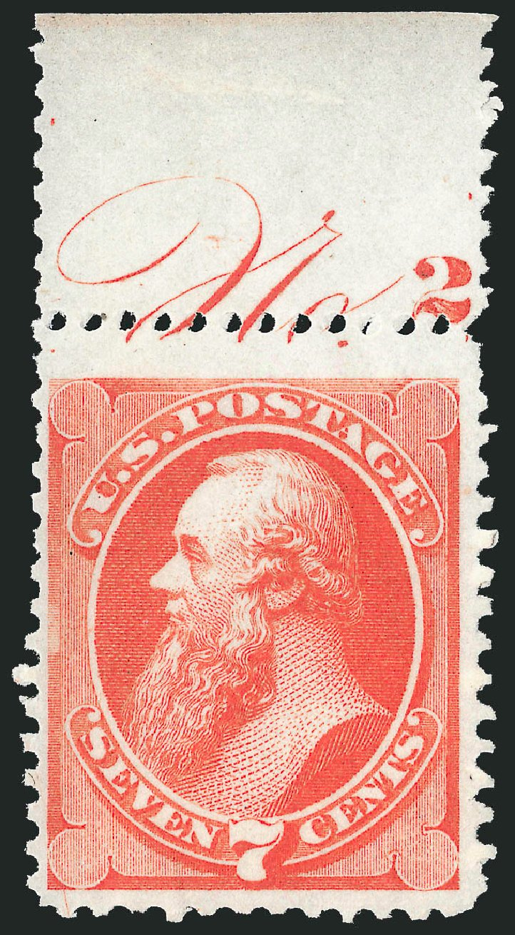 Values of US Stamp Scott 171 - 7c 1875 Stanton Special Printing. Robert Siegel Auction Galleries, Oct 2012, Sale 1033, Lot 4100