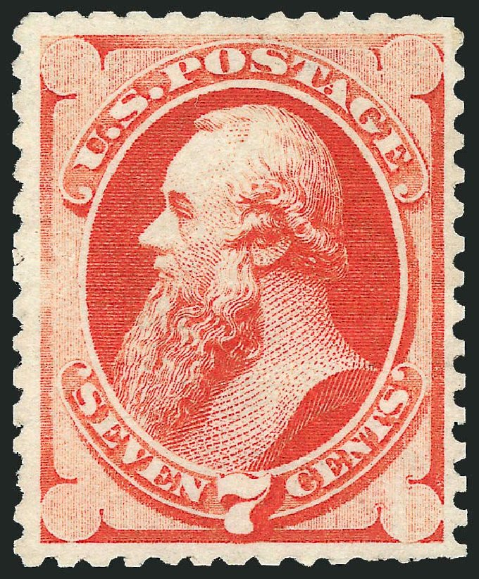 Prices of US Stamps Scott Cat. #171 - 1875 7c Stanton Special Printing. Robert Siegel Auction Galleries, Sep 2014, Sale 1078, Lot 310