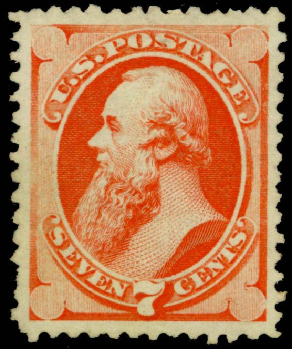 Cost of US Stamp Scott Cat. # 171 - 1875 7c Stanton Special Printing. Daniel Kelleher Auctions, Sep 2013, Sale 639, Lot 3281