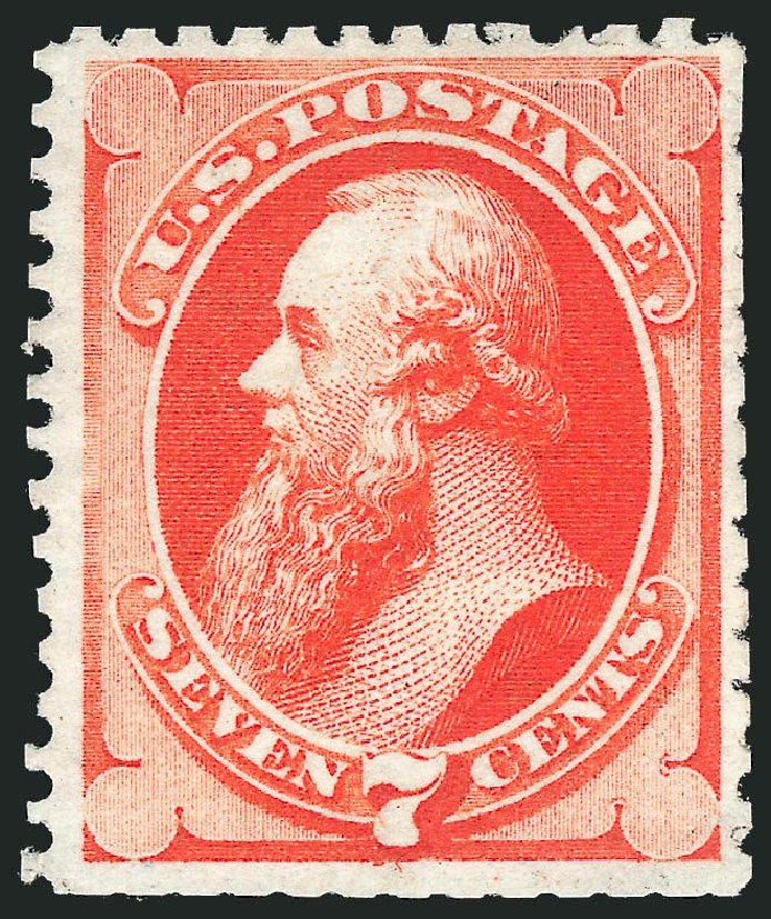 Cost of US Stamp Scott Cat. #171: 1875 7c Stanton Special Printing. Robert Siegel Auction Galleries, Nov 2013, Sale 1057, Lot 754
