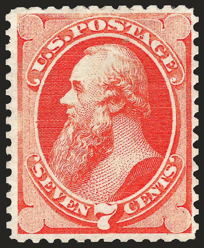 Costs of US Stamps Scott Catalogue #171: 7c 1875 Stanton Special Printing. Robert Siegel Auction Galleries, Oct 2008, Sale 963, Lot 784