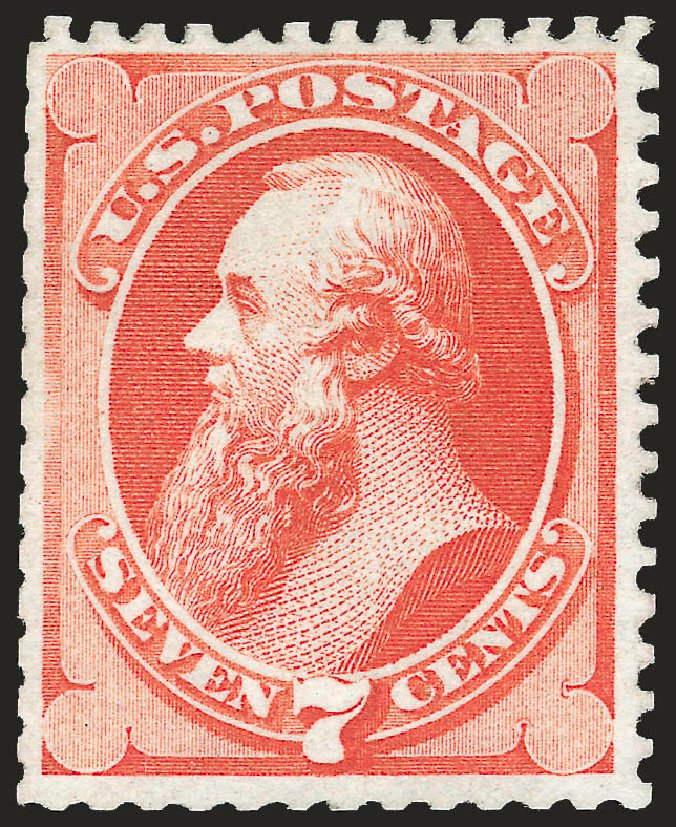 US Stamp Value Scott Catalog #171 - 7c 1875 Stanton Special Printing. Robert Siegel Auction Galleries, Apr 2009, Sale 972, Lot 3172