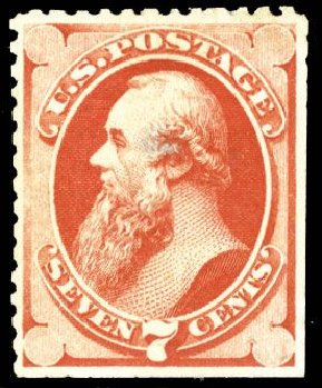 US Stamp Values Scott Cat. 171 - 1875 7c Stanton Special Printing. Cherrystone Auctions, Mar 2008, Sale 200803, Lot 193