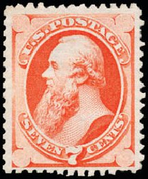 US Stamps Values Scott 171 - 1875 7c Stanton Special Printing. Schuyler J. Rumsey Philatelic Auctions, Apr 2015, Sale 60, Lot 2173