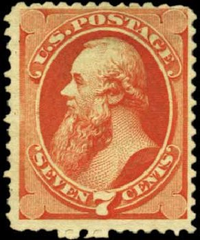 Values of US Stamp Scott Catalogue # 171: 7c 1875 Stanton Special Printing. Harmer-Schau Auction Galleries, Feb 2012, Sale 92, Lot 966