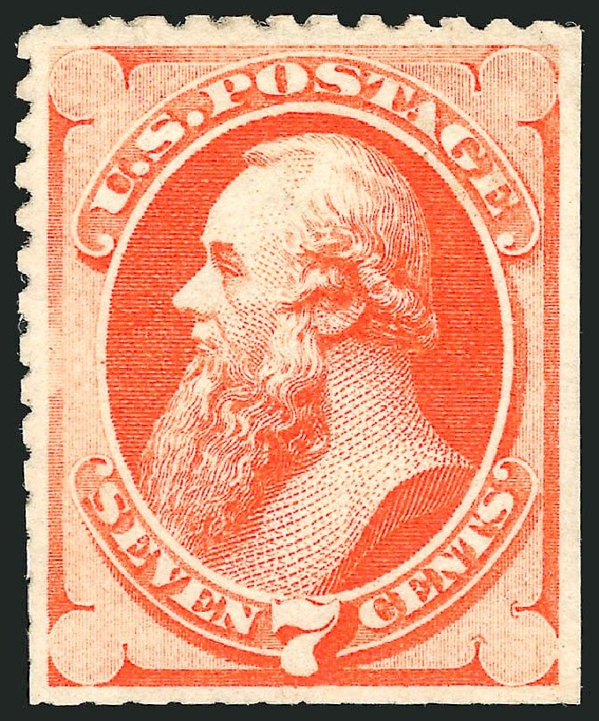 Price of US Stamps Scott Cat. # 171: 7c 1875 Stanton Special Printing. Robert Siegel Auction Galleries, Dec 2014, Sale 1090, Lot 1336