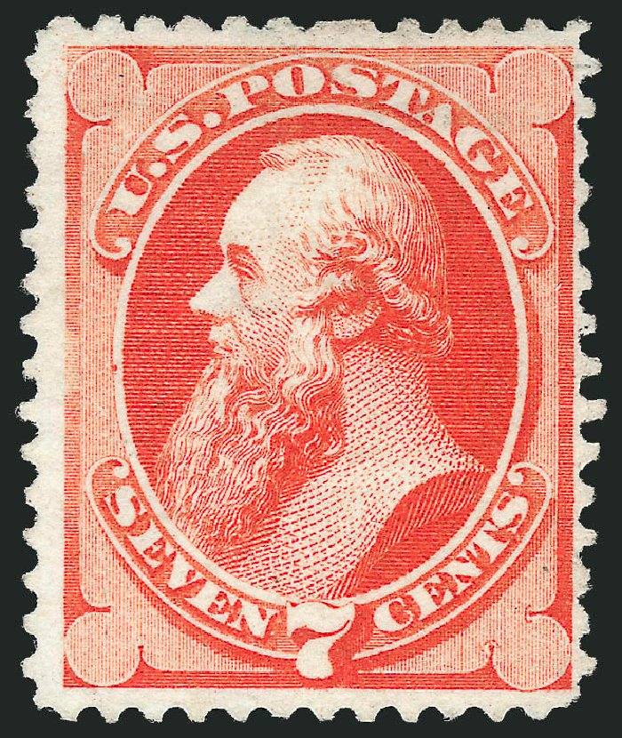 Value of US Stamps Scott Catalog # 171 - 7c 1875 Stanton Special Printing. Robert Siegel Auction Galleries, Apr 2015, Sale 1096, Lot 316
