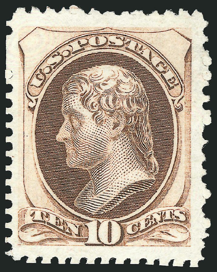 Cost of US Stamps Scott Catalog # 172 - 10c 1875 Jefferson Special Printing. Robert Siegel Auction Galleries, Apr 2015, Sale 1096, Lot 317