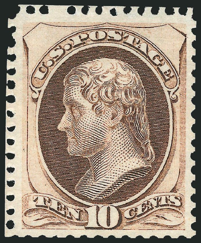 Costs of US Stamp Scott 172 - 1875 10c Jefferson Special Printing. Robert Siegel Auction Galleries, Nov 2013, Sale 1057, Lot 755