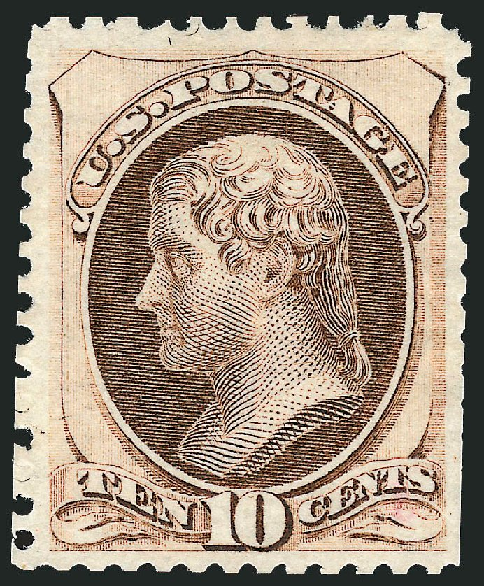 Prices of US Stamps Scott Catalogue # 172 - 1875 10c Jefferson Special Printing. Robert Siegel Auction Galleries, Oct 2010, Sale 997, Lot 5586