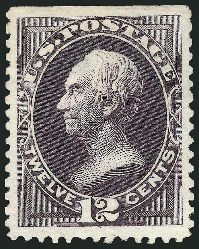 US Stamp Values Scott Cat. #173: 1875 12c Clay Special Printing. Robert Siegel Auction Galleries, Dec 2014, Sale 1090, Lot 1337