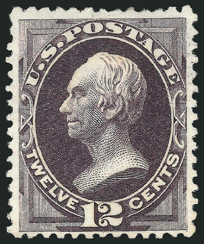 US Stamps Value Scott Catalogue # 173 - 12c 1875 Clay Special Printing. Robert Siegel Auction Galleries, Apr 2015, Sale 1096, Lot 318