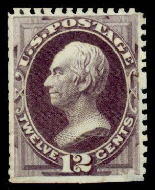 US Stamps Values Scott #173 - 1875 12c Clay Special Printing. Daniel Kelleher Auctions, Sep 2013, Sale 639, Lot 403