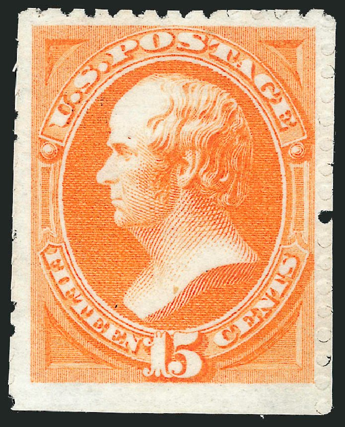 US Stamp Value Scott # 174: 1875 15c Webster Special Printing. Robert Siegel Auction Galleries, Apr 2015, Sale 1096, Lot 319