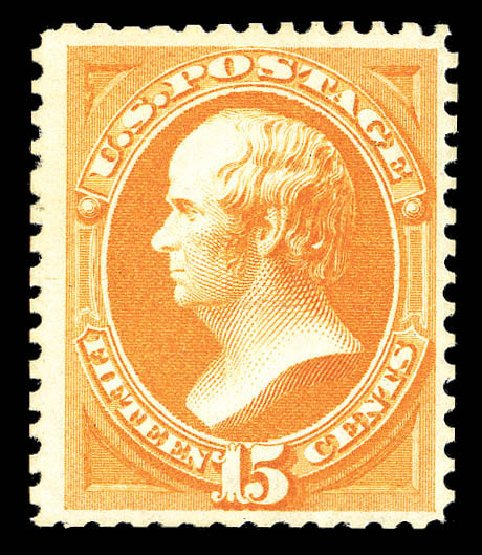Value of US Stamps Scott 174: 15c 1875 Webster Special Printing. Matthew Bennett International, Sep 2012, Sale 345, Lot 212