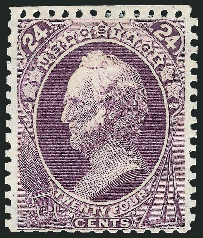 Values of US Stamp Scott Catalog # 175 - 24c 1875 Winfield Scott Special Printing. Robert Siegel Auction Galleries, Mar 2014, Sale 1067, Lot 1167