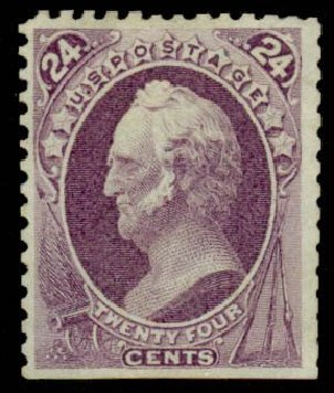 US Stamp Prices Scott Catalog # 175 - 1875 24c Winfield Scott Special Printing. Daniel Kelleher Auctions, Sep 2013, Sale 639, Lot 404