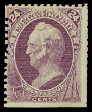 US Stamps Prices Scott Catalog 175 - 1875 24c Winfield Scott Special Printing. Daniel Kelleher Auctions, Dec 2014, Sale 661, Lot 154