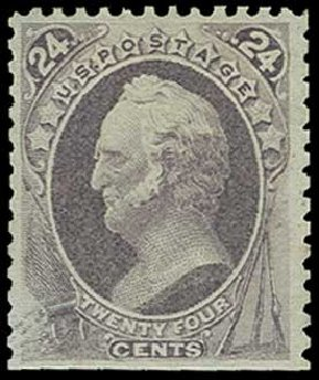 Cost of US Stamps Scott Catalogue # 175 - 1875 24c Winfield Scott Special Printing. H.R. Harmer, Jun 2015, Sale 3007, Lot 3225