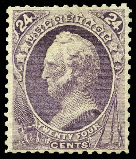 Cost of US Stamps Scott Catalogue # 175: 24c 1875 Winfield Scott Special Printing. Matthew Bennett International, May 2014, Sale 350, Lot 293