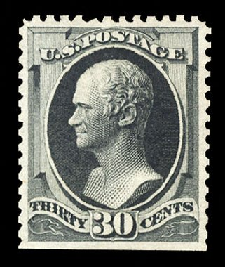 Values of US Stamps Scott Catalogue #176: 30c 1875 Hamilton Special Printing. Cherrystone Auctions, Sep 2014, Sale 201409, Lot 27