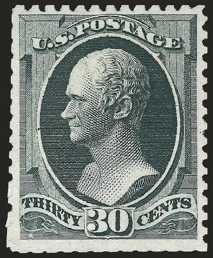 Cost of US Stamps Scott Catalog # 176 - 30c 1875 Hamilton Special Printing. Robert Siegel Auction Galleries, Apr 2009, Sale 972, Lot 3177