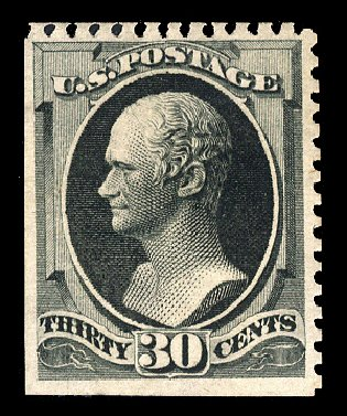 Cost of US Stamp Scott # 176 - 1875 30c Hamilton Special Printing. Cherrystone Auctions, Jun 2011, Sale 201106, Lot 48