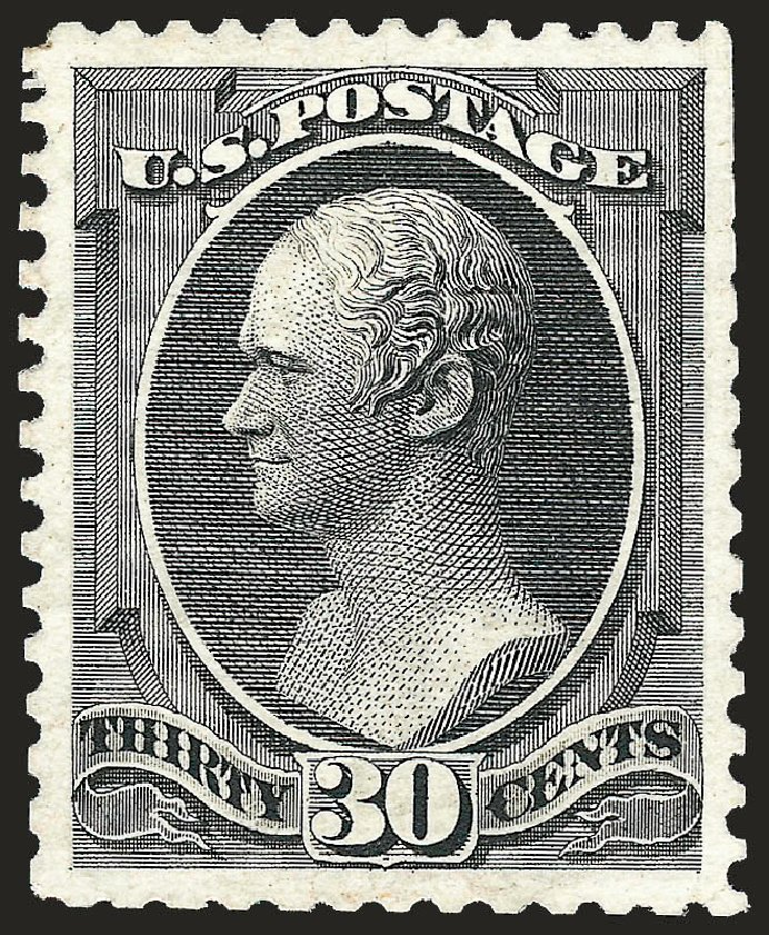US Stamps Price Scott Catalogue 176 - 1875 30c Hamilton Special Printing. Robert Siegel Auction Galleries, Oct 2008, Sale 963, Lot 789