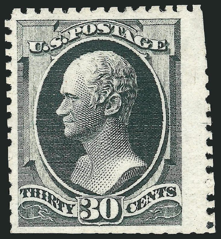 US Stamp Prices Scott Catalog #176 - 1875 30c Hamilton Special Printing. Robert Siegel Auction Galleries, Nov 2013, Sale 1057, Lot 760