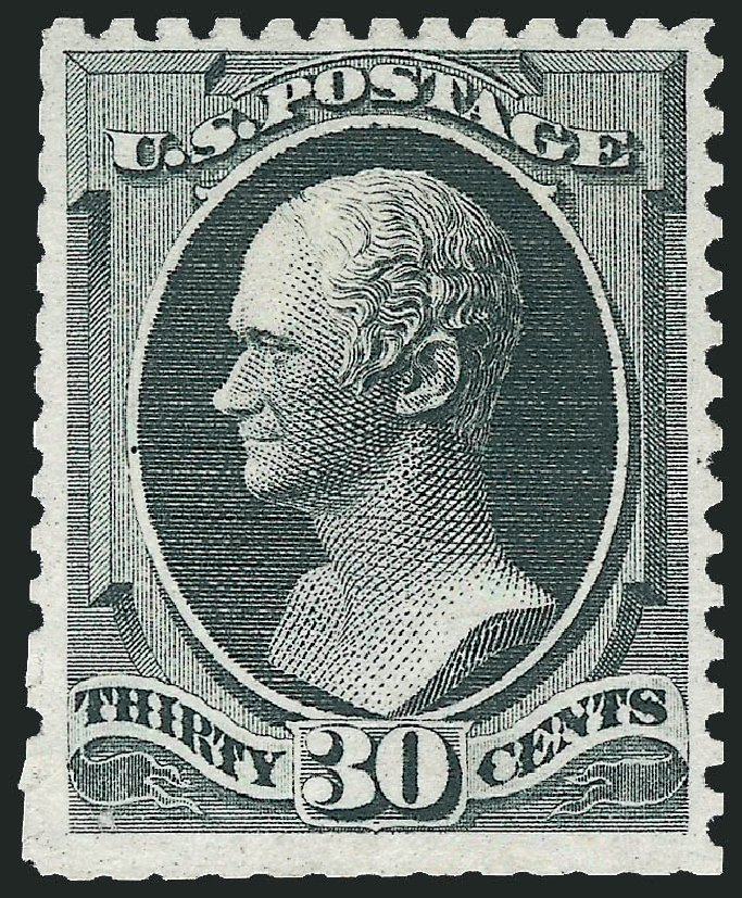 Costs of US Stamps Scott Catalog 176 - 1875 30c Hamilton Special Printing. Robert Siegel Auction Galleries, Oct 2010, Sale 997, Lot 5590