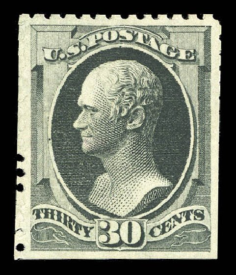 Cost of US Stamp Scott Catalogue #176: 1875 30c Hamilton Special Printing. Matthew Bennett International, Sep 2012, Sale 345, Lot 214