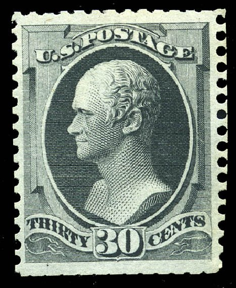 Value of US Stamps Scott 176: 30c 1875 Hamilton Special Printing. Matthew Bennett International, May 2014, Sale 350, Lot 295