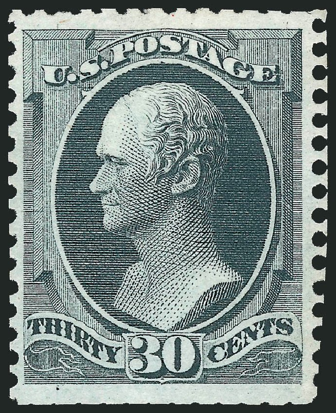 Prices of US Stamp Scott Catalog 176: 1875 30c Hamilton Special Printing. Robert Siegel Auction Galleries, Feb 2015, Sale 1092, Lot 1135