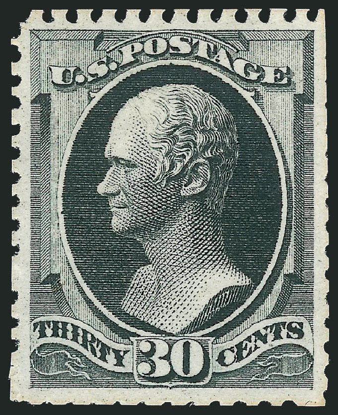 Price of US Stamps Scott Cat. #176 - 1875 30c Hamilton Special Printing. Robert Siegel Auction Galleries, Dec 2012, Sale 1036, Lot 123