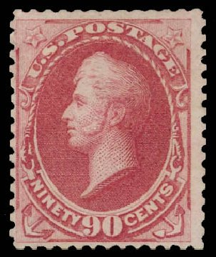 US Stamp Values Scott Cat. #177: 1875 90c Perry Special Printing. Daniel Kelleher Auctions, Jul 2011, Sale 625, Lot 788