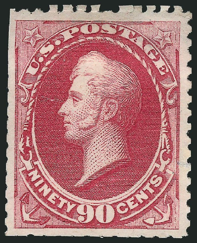 Costs of US Stamp Scott Cat. 177 - 90c 1875 Perry Special Printing. Robert Siegel Auction Galleries, Mar 2014, Sale 1067, Lot 1168