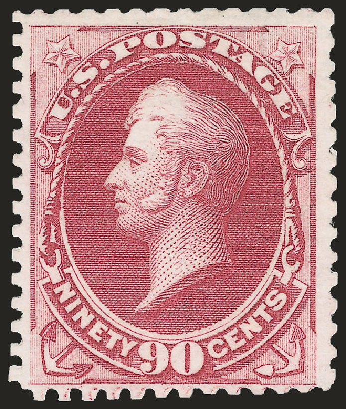 Price of US Stamps Scott Catalog #177 - 1875 90c Perry Special Printing. Robert Siegel Auction Galleries, Apr 2009, Sale 972, Lot 3178
