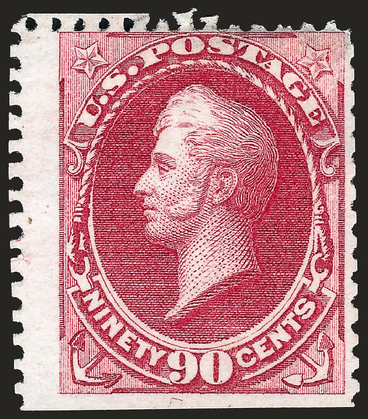 Values of US Stamps Scott # 177: 1875 90c Perry Special Printing. Robert Siegel Auction Galleries, Oct 2008, Sale 963, Lot 790