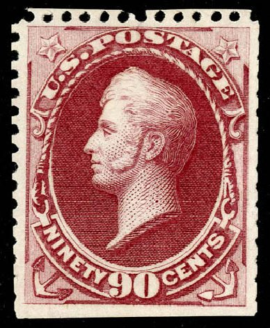 US Stamp Price Scott Catalog 177: 1875 90c Perry Special Printing. Matthew Bennett International, May 2008, Sale 327, Lot 181