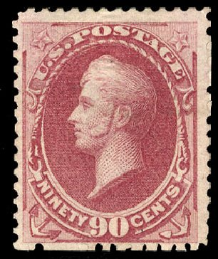 US Stamp Price Scott #177 - 90c 1875 Perry Special Printing. Cherrystone Auctions, May 2008, Sale 200805, Lot 181