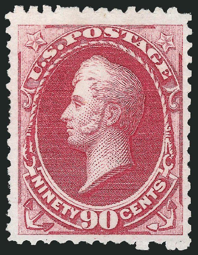 Costs of US Stamp Scott Catalogue #177 - 1875 90c Perry Special Printing. Robert Siegel Auction Galleries, Nov 2013, Sale 1057, Lot 761