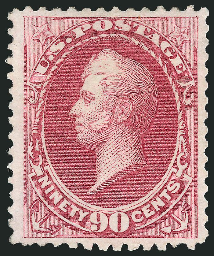 Values of US Stamps Scott Cat. 177 - 90c 1875 Perry Special Printing. Robert Siegel Auction Galleries, Oct 2010, Sale 997, Lot 5591