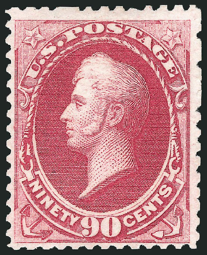 Cost of US Stamp Scott Cat. 177: 90c 1875 Perry Special Printing. Robert Siegel Auction Galleries, Dec 2012, Sale 1036, Lot 124